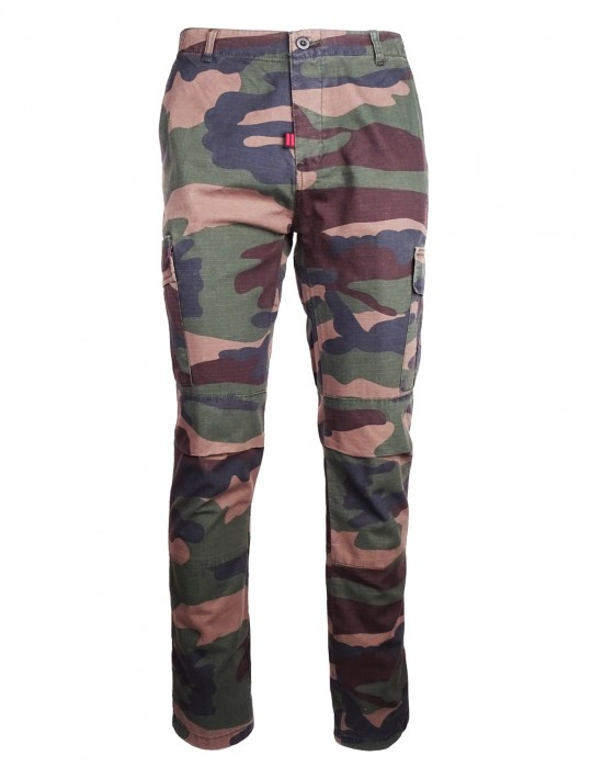 DR M Cargo Pants Camo Green