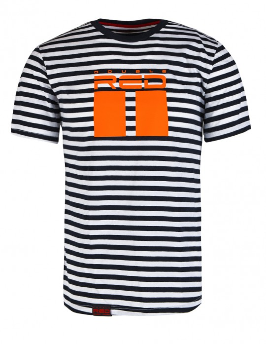 Nautical Striped T-Shirt ALL LOGO Orange