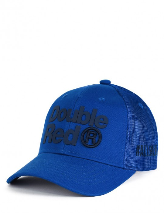 DOUBLE RED Trademark Trucker Cap ALLBLUE