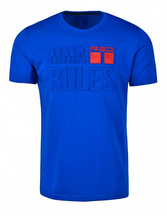 T-Shirt MMA RULES Blue