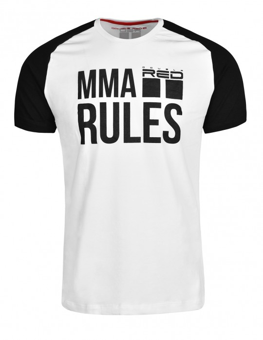 T-Shirt MMA RULES Black/White